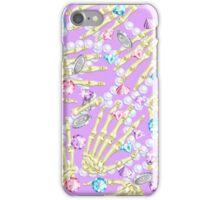 'Gem Bones Purple iPhone Case/Skin