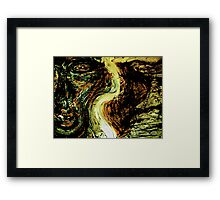 ear to the earth..... ancient man Framed Print