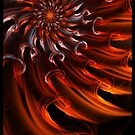 Solar Waves - Abstract Fractal Art by Leah McNeir