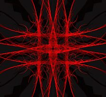 The Red - Fractal Art iPhone/iPod Case by Leah McNeir