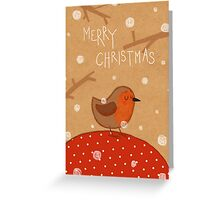 Christmas robin Greeting Card
