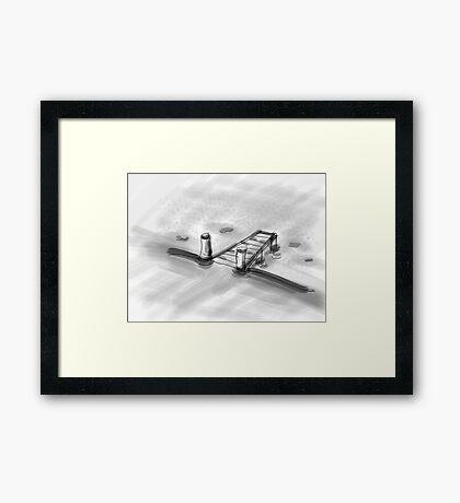 jetty Framed Print