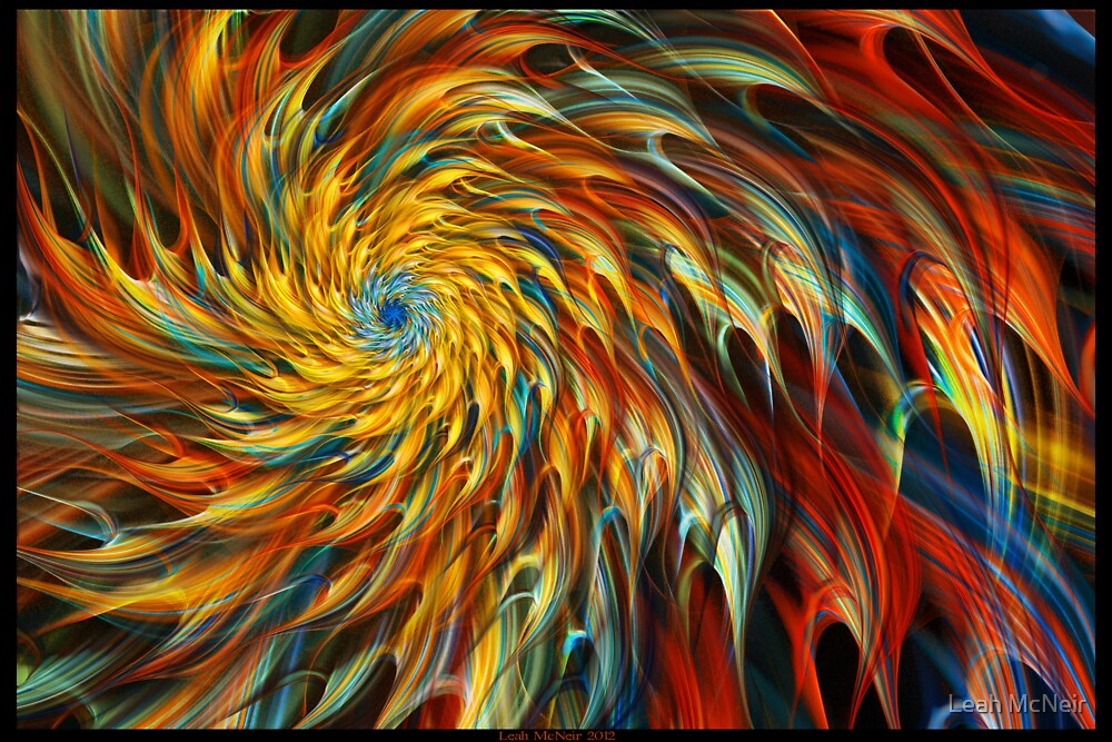 """Creative Burst"" - Abstract Geometric Fractal Art by Leah McNeir"
