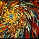 """Creative Burst"" - Abstract Geometric Fractal Art by Leah McNeir"