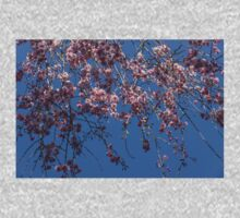 Pretty in Pink - a Flowering Cherry Tree and Blue Spring Sky Kids Tee