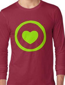 Lime Green Heart T-shirt Long Sleeve T-Shirt