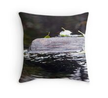 Sunken Log and Leaves Throw Pillow