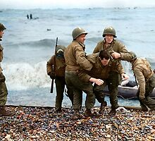 Omaha Beach landing - D Day by Marina Amaral