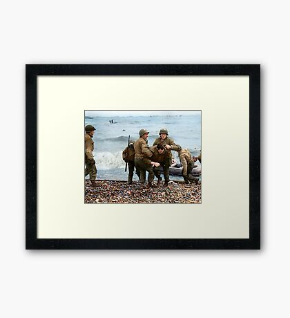 Omaha Beach landing - D Day Framed Print