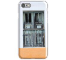 Wood Window in a Concrete Wall iPhone Case/Skin