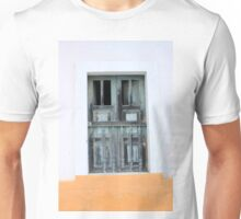 Wood Window in a Concrete Wall Unisex T-Shirt