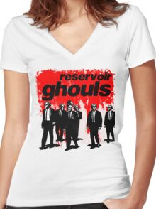 RESERVOIR GHOULS Women's Fitted V-Neck T-Shirt