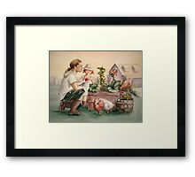The Veggie Patch Framed Print