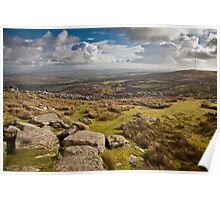 Bodmin Moor from the Cheesewring Poster