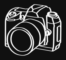 camera t-shirts on dark by parko