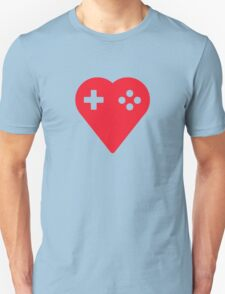 Red We Love Gaming Heart T-Shirt