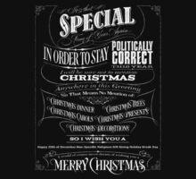 Politically Correct or Incorrect Black Chalkboard Typography  Christmas - I Kids Tee