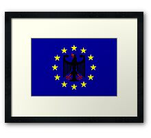 New EU flag (if you just read...) Framed Print
