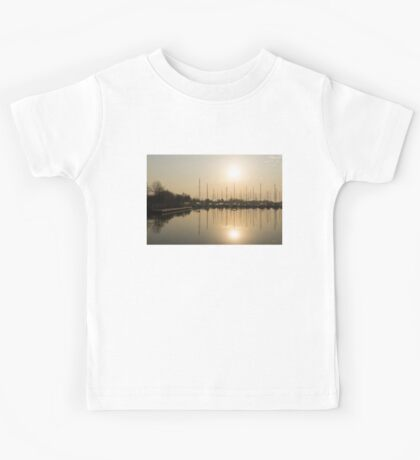 Let's Sail - Sunny Morning Marina Kids Tee