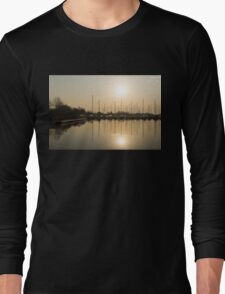 Let's Sail - Sunny Morning Marina Long Sleeve T-Shirt