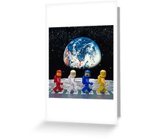 The Beatles on the moon. Greeting Card