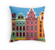 Stockholm, Sweden - Skyline Illustration by Loose Petals Throw Pillow