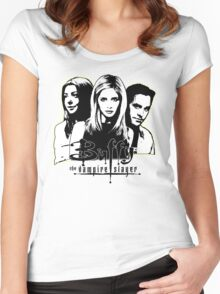 A Trio of Scoobies (Willow, Buffy & Xander) Women's Fitted Scoop T-Shirt