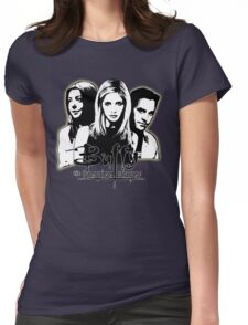A Trio of Scoobies (Willow, Buffy & Xander) Womens Fitted T-Shirt