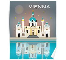 Vienna, Austria - Skyline Illustration by Loose Petals Poster
