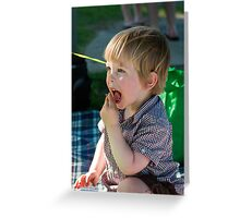 Pippin's 2nd Birthday - Let Them (Me) Eat Cake Greeting Card