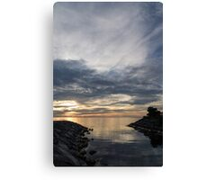 Waterscape In Gray And Yellow Canvas Print
