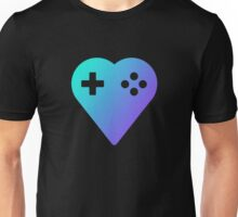Blue We Love Gaming Heart Unisex T-Shirt