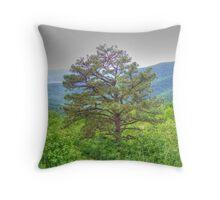 Tree on Overlook Throw Pillow