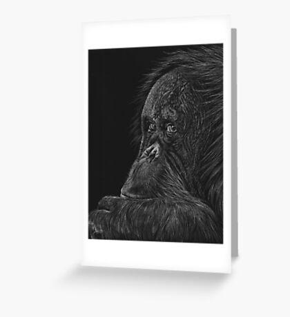 Melati the Orangutan Greeting Card