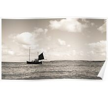 Lone Fishing Boat Poster
