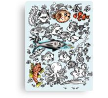 Cartoon Fishies  Canvas Print