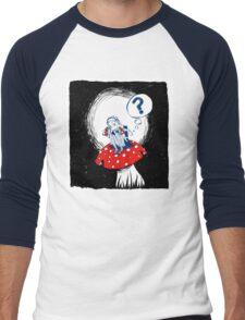 Alice on the mushroom Men's Baseball ¾ T-Shirt