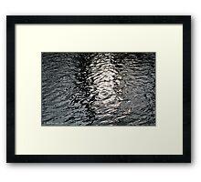 Water patterns II Framed Print