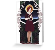Dana Scully Art Nouveau Greeting Card
