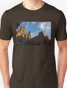 Warm Sun Glow On The Cathedral Of Barcelona T-Shirt