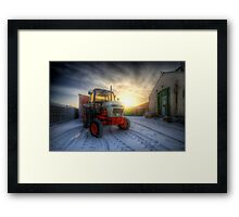 Tractor Sunrise  Framed Print