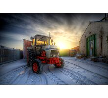 Tractor Sunrise  Photographic Print