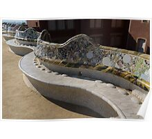 Gaudi's Park Guell Sinuous Curves  Poster