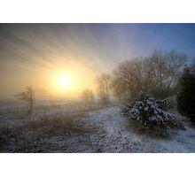 Snowy Landscape Sunrise  Photographic Print