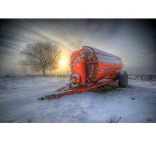 Orange Trailer Photographic Print