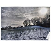 Snow covered filed Poster