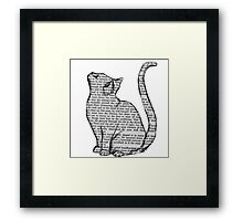 books and cats and books and cats Framed Print