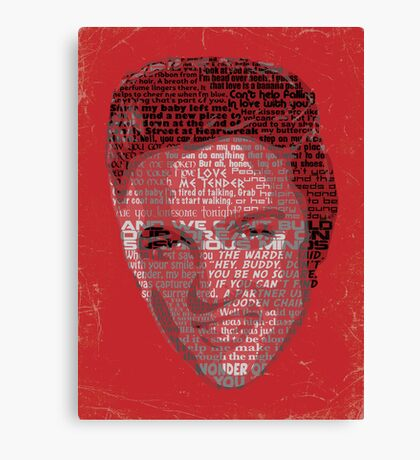 Typographic Icons - Elvis Presley Canvas Print