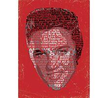 Typographic Icons - Elvis Presley Photographic Print
