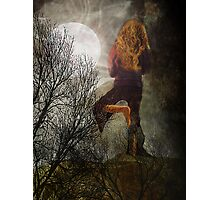 Yoga Moon Photographic Print